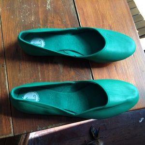 Green Ballet Flats - Handmade
